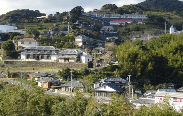 工場のある長崎市西出津地区の風景